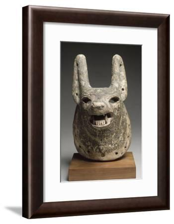 Mask  Dog, Anubis or Qebehsenuef to Movable Jaw--Framed Giclee Print