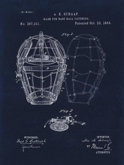 Mask for Baseball Catcher-Tina Lavoie-Giclee Print