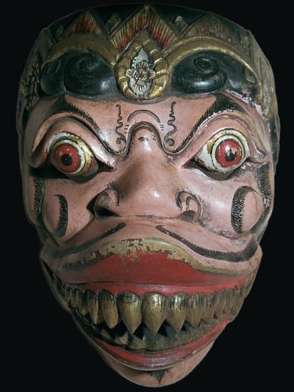 Mask from Java. Artist: Unknown-Unknown-Giclee Print