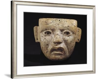 Mask Made from Green Stone from Principal Temple of Teotihuacan, Mexico--Framed Giclee Print