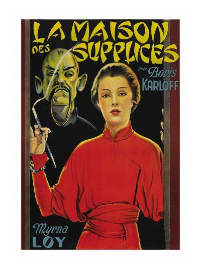 "Mask of Fu Manchu ""La Maison Des Supplices""--Art Print"