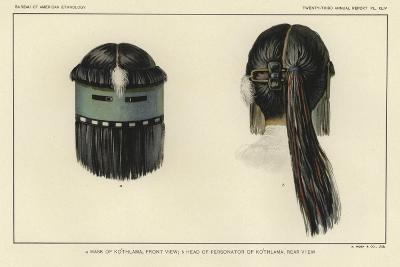Mask of Kothlama, Front View; Head of Personator of Kothlama, Rear View--Giclee Print