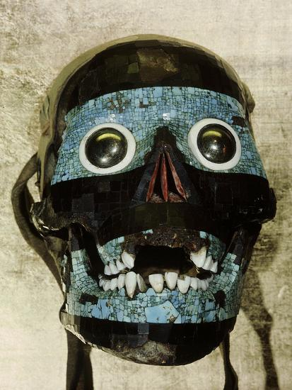Mask of Tezcatlipoca, the Smoking Mirror, Mixtec/Aztec, Mexico, c1500-Werner Forman-Photographic Print