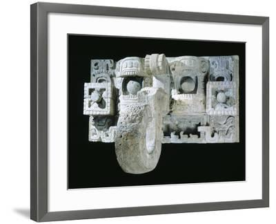 Mask of the God Mac, Architectural Element Originating from Codz Poop--Framed Giclee Print