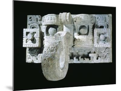 Mask of the God Mac, Architectural Element Originating from Codz Poop--Mounted Giclee Print