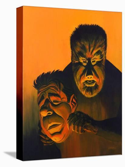 Mask of Wolfman-Bob Lizarraga-Stretched Canvas Print