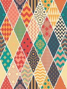 Seamless Pattern in Style of Patchwork. Vector Illustration. Background in Rustic Style. by MaskaRad