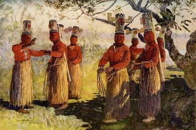 Masked Dancers of Opaina, River Apaporis, Brazil--Giclee Print