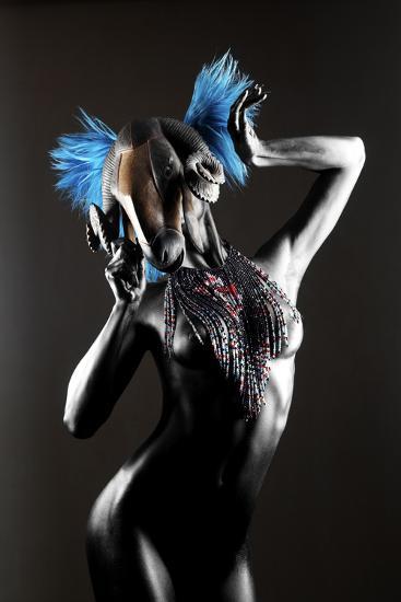 Masked Nude-Graeme Montgomery-Photographic Print