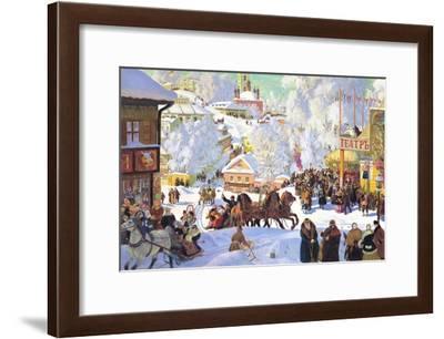 Maslanitsa; Shrovetide-Boris Kustodiyev-Framed Art Print
