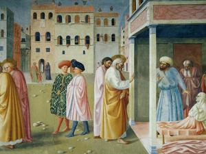 Detail of Healing of the Cripple and Raising of Tabitha by Masolino Da Panicale