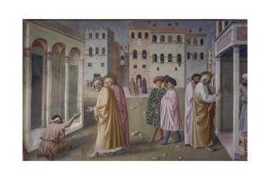 Healing of the Crippled Man, 1424-25 by Masolino Da Panicale