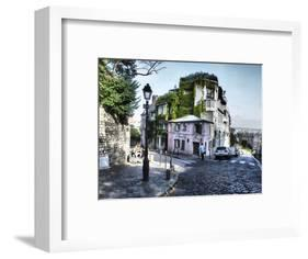 Mason Rose Restaurant Montmartre on Rue De L'abreuvior-Sylvia Gulin-Framed Photographic Print