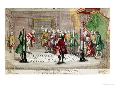 Masonic Ceremony in France--Giclee Print
