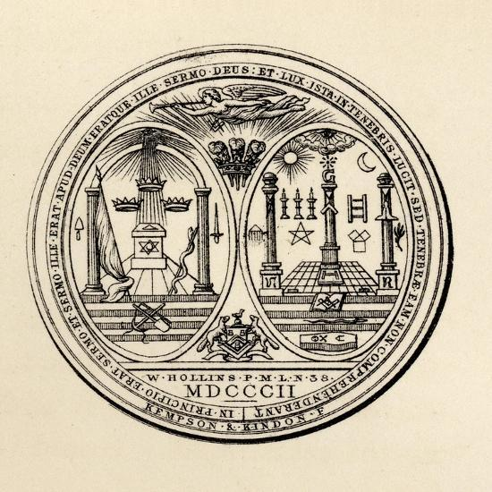 Masonic Seal, 1802, from 'The History of Freemasonry, Volume III', Published by Thomas C. Jack,…--Giclee Print