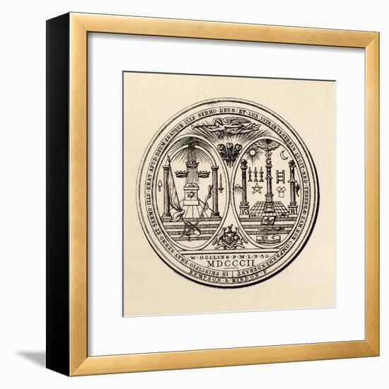 Masonic Seal, 1802, from 'The History of Freemasonry, Volume III', Published by Thomas C. Jack,…--Framed Giclee Print