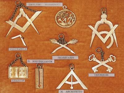 Masonic Symbols, Italy--Giclee Print