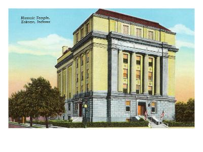 Masonic Temple, Kokomo, Indiana--Art Print