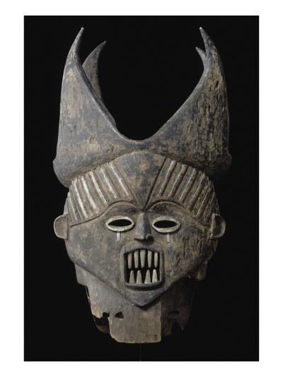 Masque Janus--Giclee Print