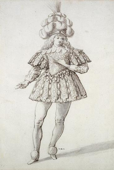Masquer with Feathers and Plume-Inigo Jones-Giclee Print