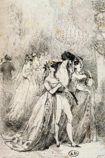 Masquerade Ball, France, 19th Century--Giclee Print