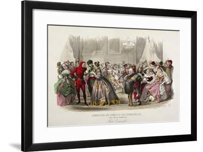 Masquerade Ball, France--Framed Giclee Print