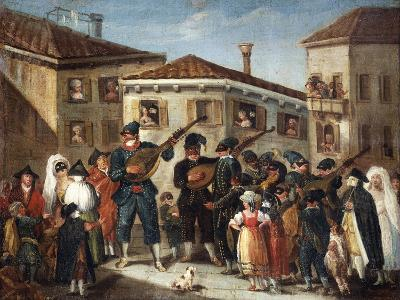 Masquerade Concert, Painting by an Unknown Venetian Artist, 18th Century--Giclee Print