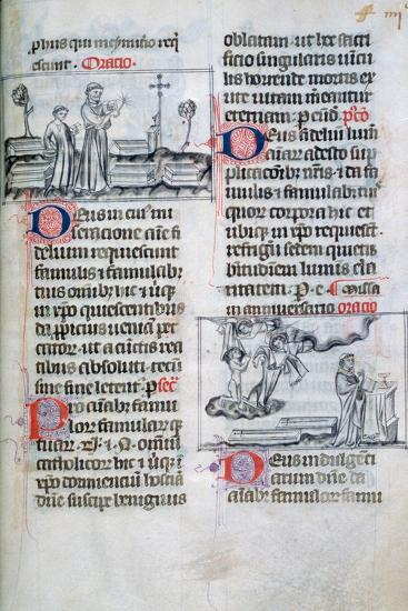Mass for the Buried in a Graveyard, and Anniversary Mass for Souls of the Dead, 14th Century--Giclee Print