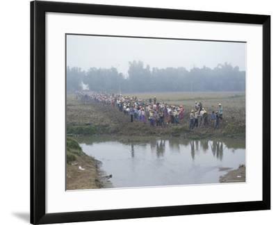 Mass Mobilisation, Irrigation Project, Yunnan, China-Occidor Ltd-Framed Photographic Print