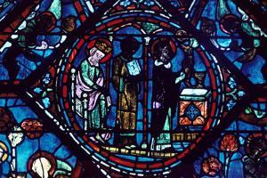 Mass of St Giles, Stained Glass, Chartres Cathedral, France, 1194-1260