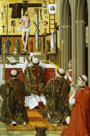 Mass of St Gregory, Detail from Convent of St Clare Altarpiece in Valencia--Giclee Print