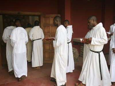 Mass Procession in Keur Moussa Benedictine Abbey, Keur Moussa, Senegal, West Africa, Africa-Godong-Photographic Print