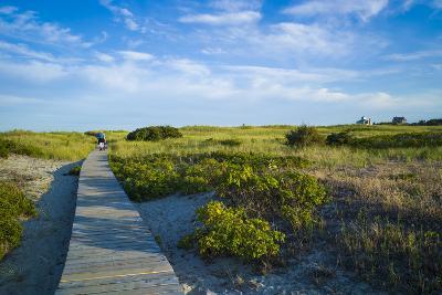 Massachusetts, Gloucester, Good Harbor Beach, Boardwalk-Walter Bibikow-Photographic Print