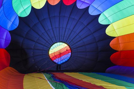 Massachusetts, Hudson, Ballon Festival, Hot Air Balloon Interior-Walter Bibikow-Photographic Print