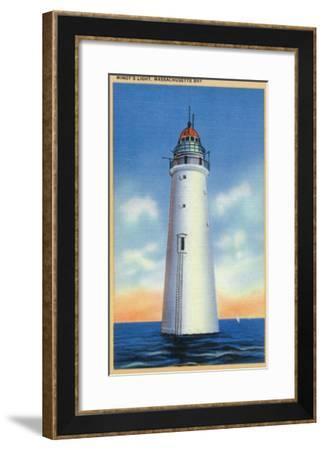 Massachusetts - Massachusetts Bay View of Minot's Lighthouse, c.1936-Lantern Press-Framed Art Print