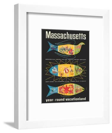 Massachusetts, New England - Year-Round Vacationland-Ben Nason-Framed Art Print