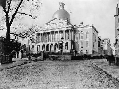 Massachusetts State House-N.L. Stebbins-Photographic Print