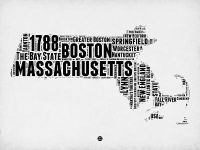 Massachusetts Word Cloud 2-NaxArt-Art Print