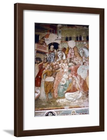 Massacre of the Innocents, Fresco in church of Santi Agostino, Siena, 1482-Matteo di Giovanni-Framed Giclee Print