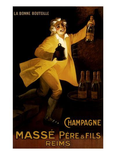 Masse Pere & Fils Champagne, c.1920-Marcellin Auzolle-Giclee Print