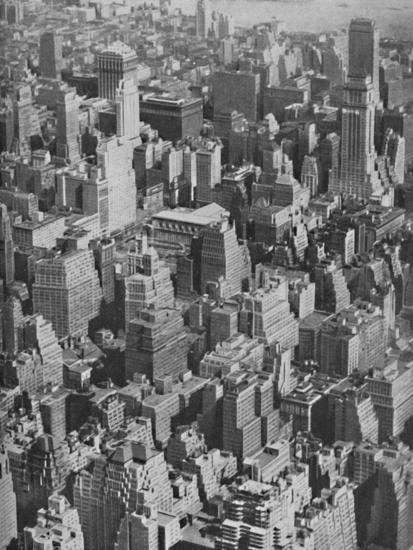'Massed Miracles of American Achievement in Architecture', c1935-Ewing Galloway-Photographic Print