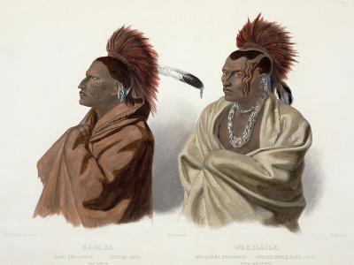 Massika and Wakusasse, Plate 3, Travels in the Interior of North America, c.1844-Karl Bodmer-Giclee Print