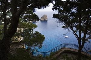 Faraglioni from Giardini (Gardens) Di Augusto, Capri, Capri Island, Campania, Italy by Massimo Borchi