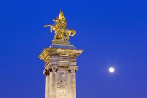 Gilded Statue of Fame and Pegasus on Pont Alexandre-Iii by Massimo Borchi