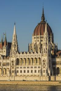Pest, the Hungarian Parliament Building by Massimo Borchi