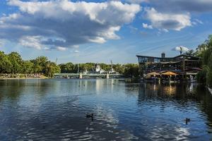 Pest, Varosliget (City Park), the Lake by Massimo Borchi