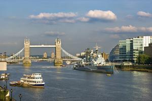 The Tower Bridge and HMS Belfast by Massimo Borchi
