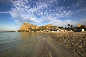 View of Beach and Coastline, San Vito Lo Capo, Sicily, Italy by Massimo Borchi