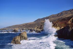 View of Coastline between Point Lobos State Reserve and Point Sur, Big Sur, California, USA by Massimo Borchi