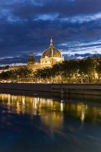View of the Rhone and Hotel Dieu from Pont Wilson by Massimo Borchi